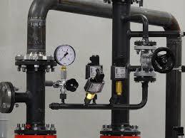 large steel manifold prior to flushing