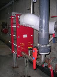 plate heat exchanger in situ