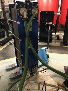 plate heat exchanger de-scale